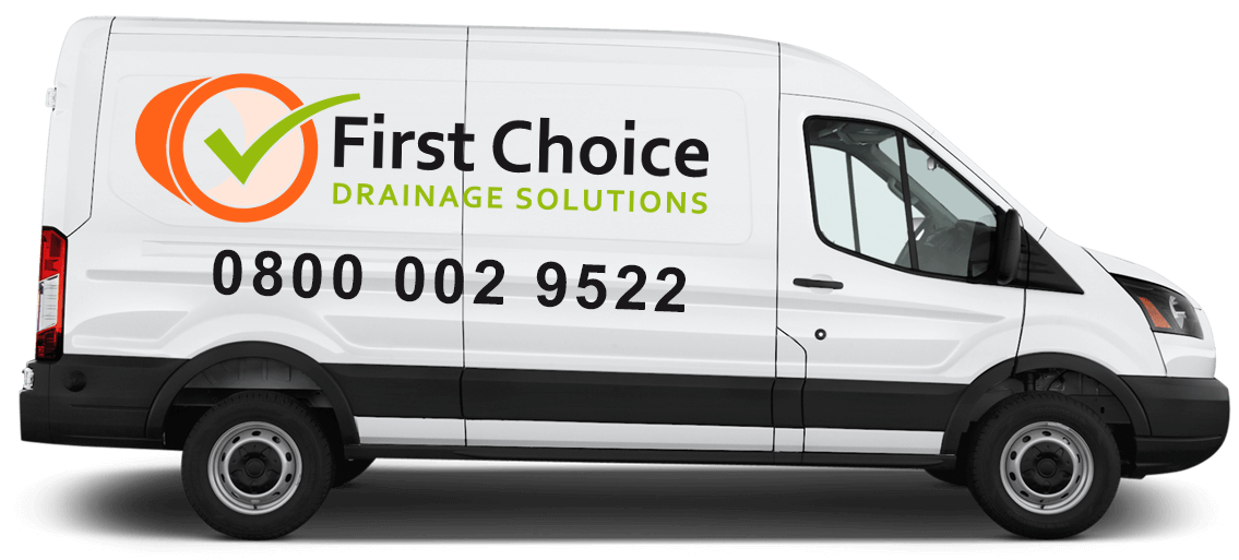 First Choice Drainage Solutions Van with Logo